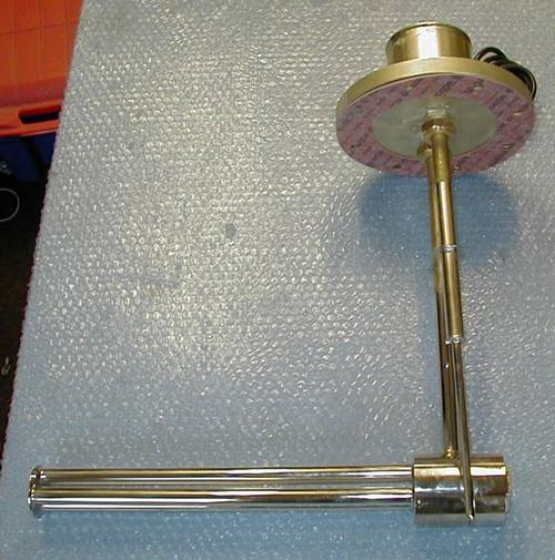 Model 974 top entry tank heater, flanged